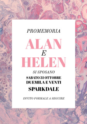 pinkish and purple marble texture wedding invitations  Partecipazione