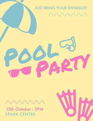 Pool Pool Party Invitation