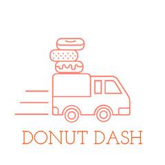 Orange and White Game Logo Donut