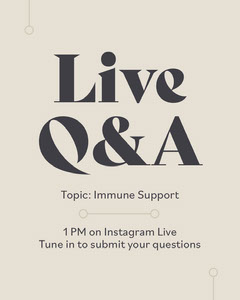 Live Question and Answer Event Announement Instagram Flyer