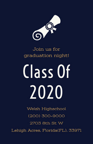 Class Of 2020 Graduation Poster