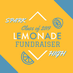 Orange and Blue Lemonade Fundraiser Social Post Fundraiser