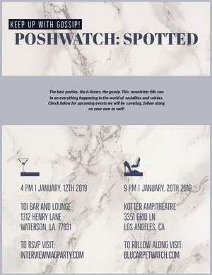 PoshWatch: Spotted Newsletter