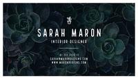 Sarah Maron Cartão de visita
