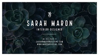 Sarah Maron Business Card
