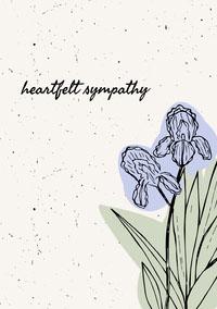 Floral Illustrated Sympathy Card Sympathy Card