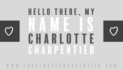 grey white black hello name business card Hello