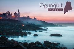 View Of Ogunquit Maine Postcard Ocean