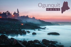 ogunquit Maine postcard Urlaubspostkarte