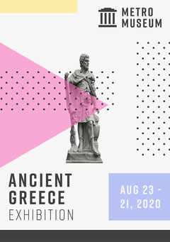 Colourful Ancient Greece Exhibition Flyer A5 History