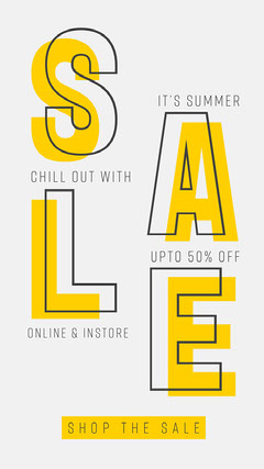Yellow and White Summer Sale Instagram Story Promotion