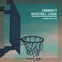 Community Basketball League Instagram Square with Hoop Photo Basketball