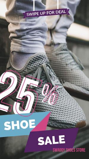 Purple and White Shoe Sale Ad Snapchat Story Filtro de Snapchat