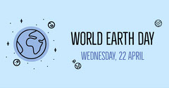 Blue World Earth Day Facebook Post Earth