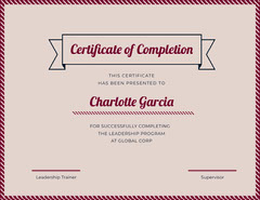 leadership certificate of completion Educational Course