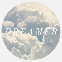 blue dreamer circular sticker  Stars