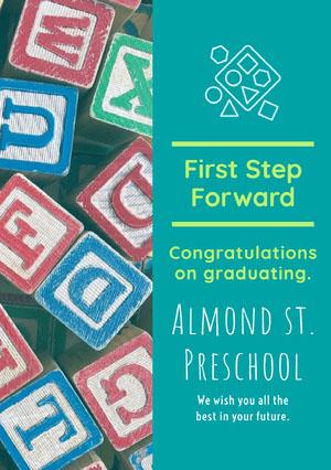 Almond st. Preschool  Karte zum Schulabschluss