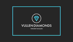Black and Cyan Border and Diamond Modern Jeweler Business Card Jewelry
