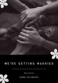 We're getting married Wedding