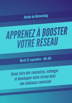 Blue Gradient Networking Event Poster A4 Affiche événementielle