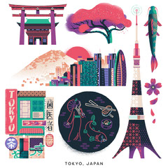 Tokyo City Sticker Pack Japan