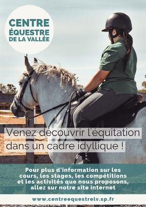 Blue Horse Riding Club Poster A4 Prospectus de club