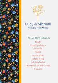 Lucy & Micheal  Wedding Program