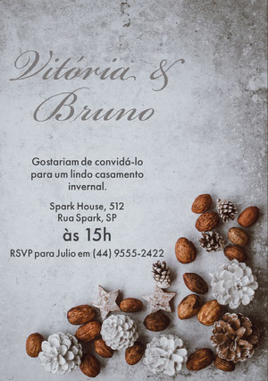 winter wonderland wedding invitations  Convite de casamento
