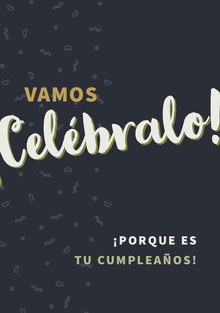 let us celebrate birthday cards  Tarjeta de cumpleaños