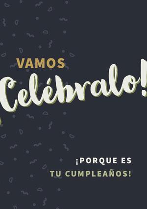 let us celebrate birthday cards  Tarjeta de cumpleaños con citas