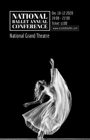 Black and White Ballerina Ballet Conference Flyer Conference Flyer