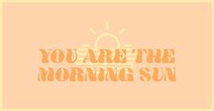 Orange Love Facebook Post Graphic Sun