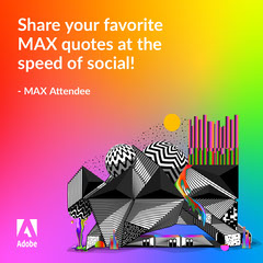 Adobe Max Quote Instagram Feed Template Rainbow