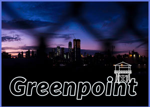 Greenpoint Postcard with City at Sunset Postal