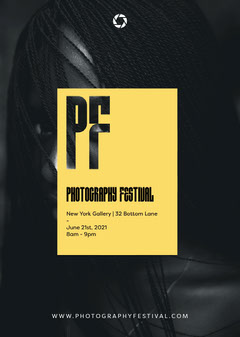 Black and Yellow, Photography Festival, Flyer Photography