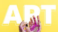 Yellow Art Youtube Channel Art Art