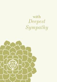 Green Floral Sympathy Card Sympathy Card