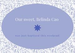 Our sweet, Belinda Cao Baptism