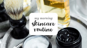 Morning Skincare Routine YouTube Channel Art Banner do YouTube