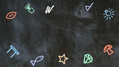 Colourful Doodle Blackboard Welcome Back Zoom Background 16:9 Teacher