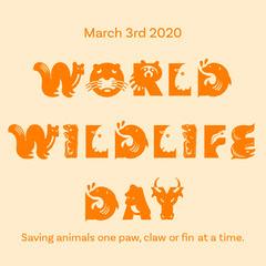 World Wildlife Day Instagram Square Awareness