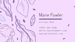 Purple and Lilac Artisan Chef Business Card Chef