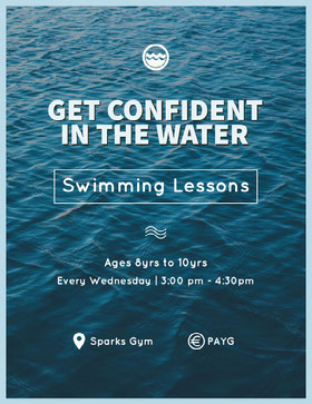 GET CONFIDENT IN THE WATER Flyer