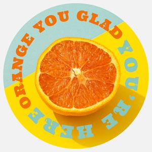 circular citrus sticker Sticker Maker
