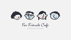 White Black Pink Blue Faces Friends Cafe Business Card Girls