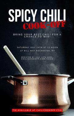 Black Photo Chili Cook-Off Flyer Cooking