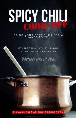 Black Photo Chili Cook-Off Flyer Chili Cook Off Flyer