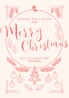 Pink, Light Toned, Christmas Card Christmas