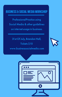 business social media workshop poster Workshop