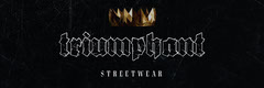 Black with Gold Crown 'Triumphant Street Wear' Twitter Header Gold